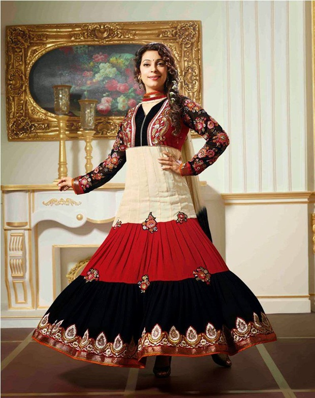 juhi-chawla-indian-party-wear-designer-dresses- (5)