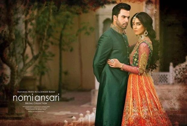 maya-ali-and-junaid-khan-photoshoot-for-nomi-ansar-bridal-wear- (10)