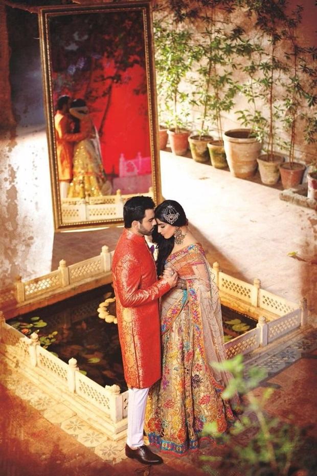 maya-ali-and-junaid-khan-photoshoot-for-nomi-ansar-bridal-wear- (8)