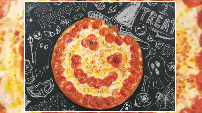The Jack-O'-Lantern Pizza At Papa John's