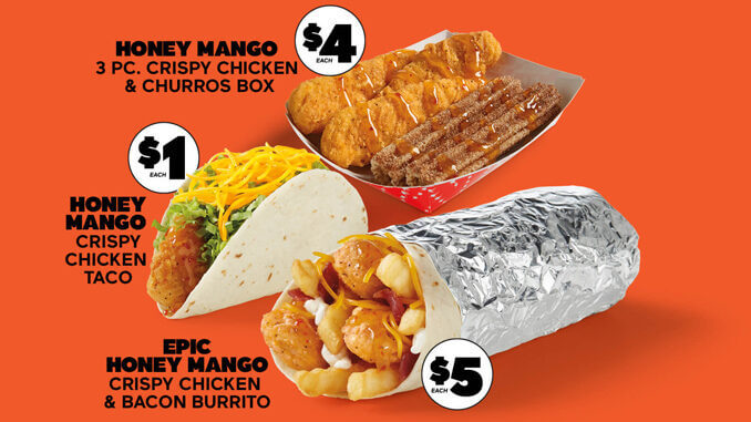 New HONEY MANGO CRISPY CHICKEN At Del Taco