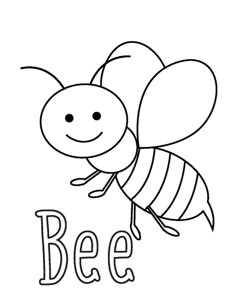 coloring pages bee « Preschool and Homeschool