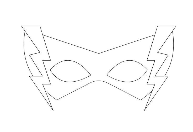 heros mask template for kıds « funnycrafts