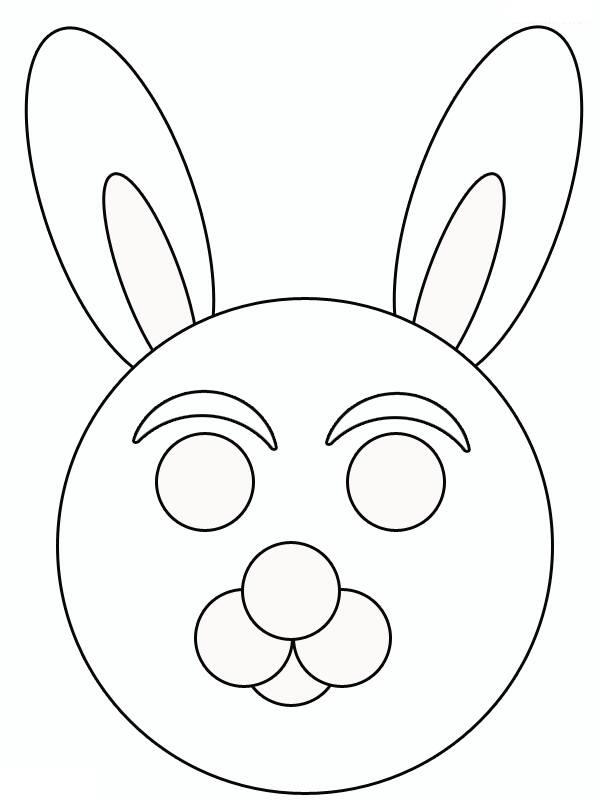 rabbit mask template « Preschool and Homeschool