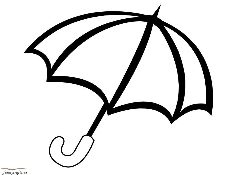 rainbow umbrella coloring page « Preschool and Homeschool