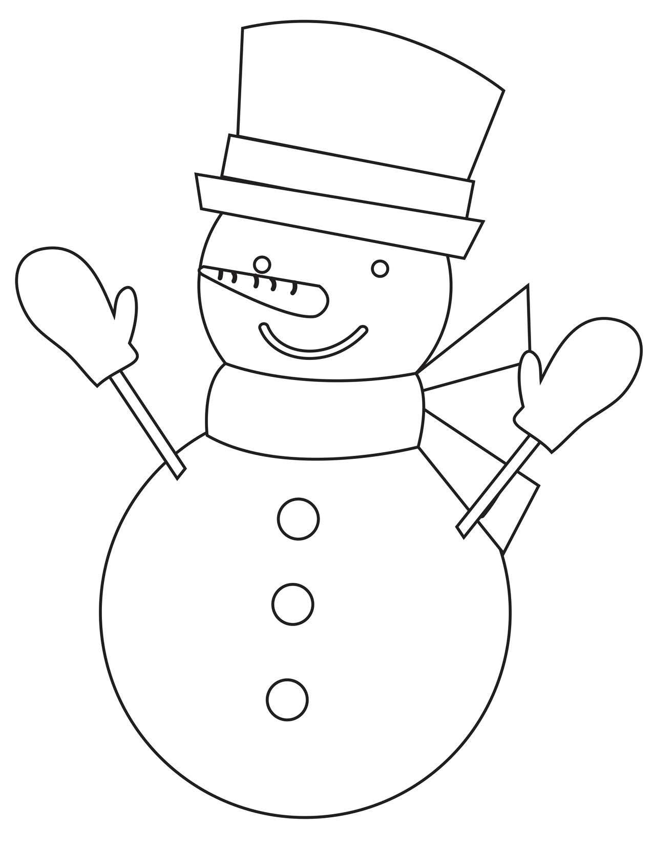 Snowman Coloring Pages Preschool And Homeschool
