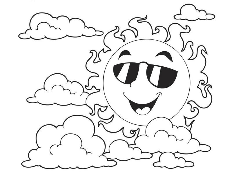 spring coloring page sun « Preschool and Homeschool