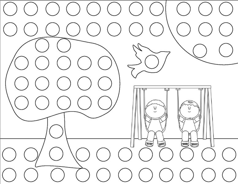 spring do a dot coloring page « Preschool and Homeschool