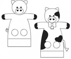 animals finger puppet worksheets « Preschool and Homeschool