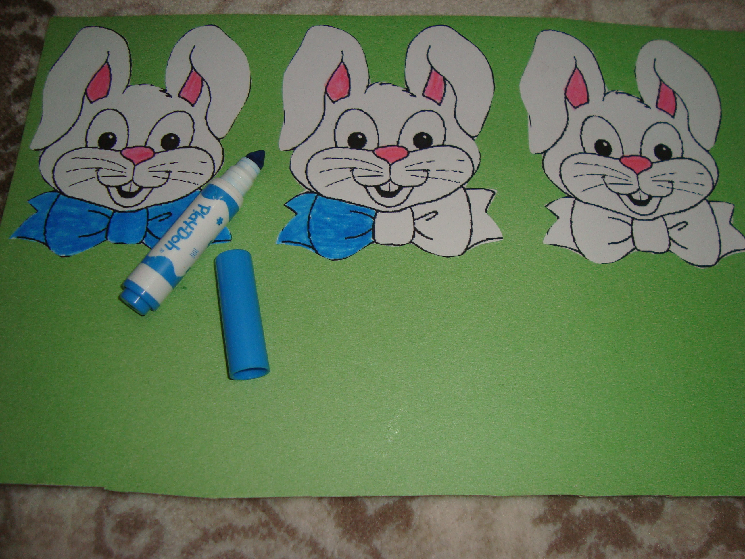 Bunny Sorting Activity For Toddlers 3 Preschool And