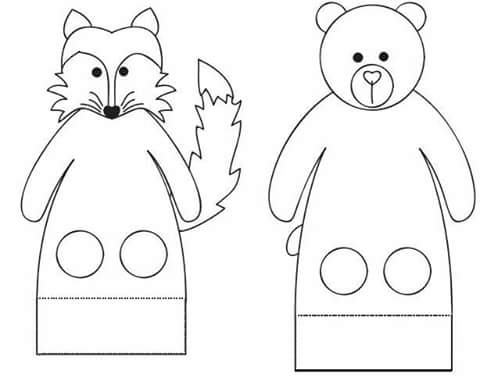 finger puppet worksheets (2) « Preschool and Homeschool