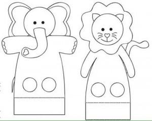 finger puppet worksheets elephant « Preschool and Homeschool