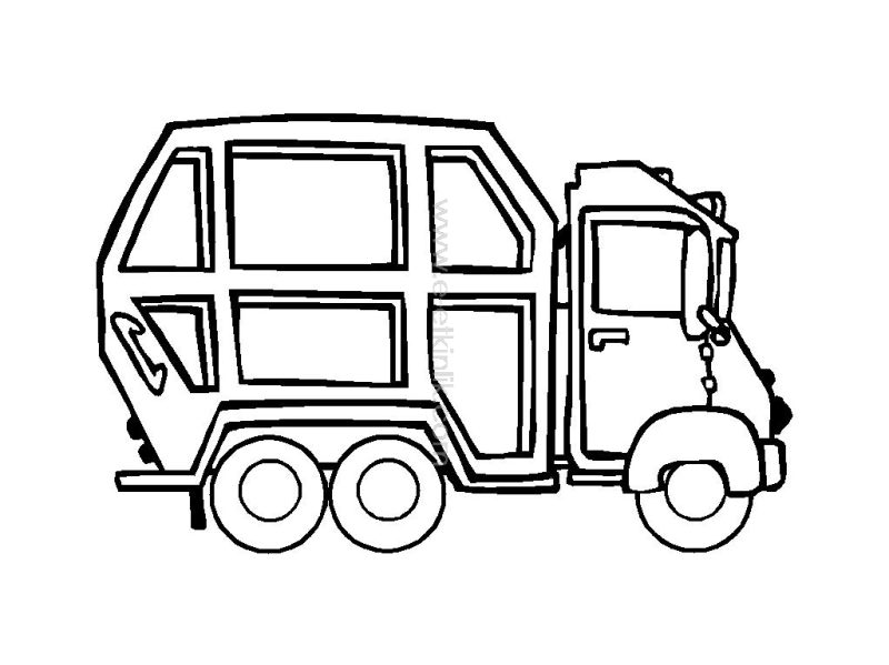 garbage truck worksheets coloring pages (10) « Preschool