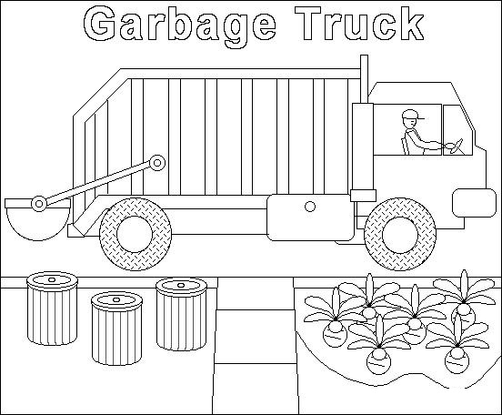 garbage truck worksheets coloring pages (9) « Preschool