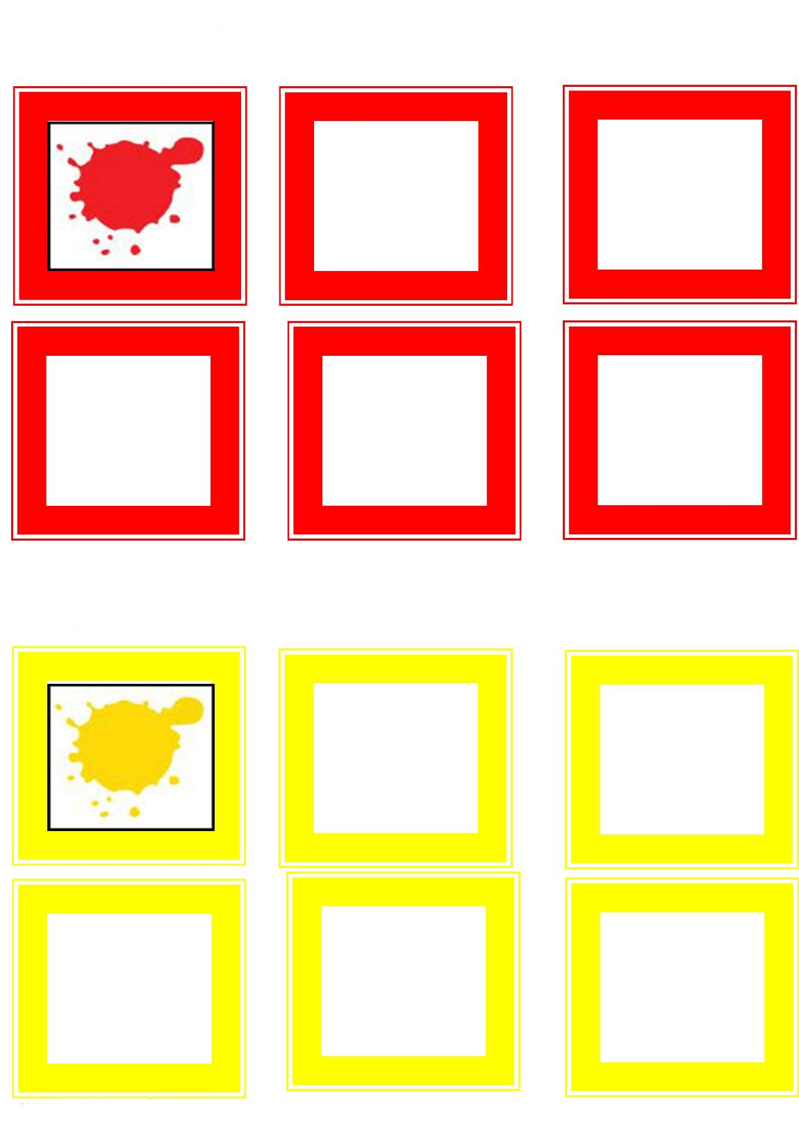 Learning Color Activities Yellow Andred Preschool And Homeschool