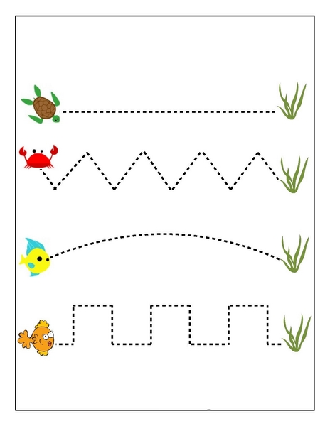 ocean animals pre writing exercise « Preschool and Homeschool