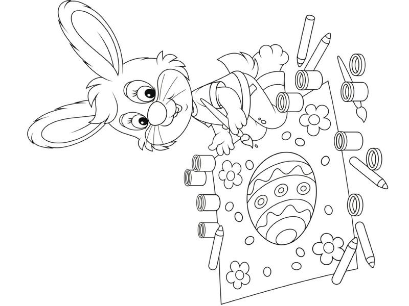 preschool bunny coloring cool pages (6) « Preschool and