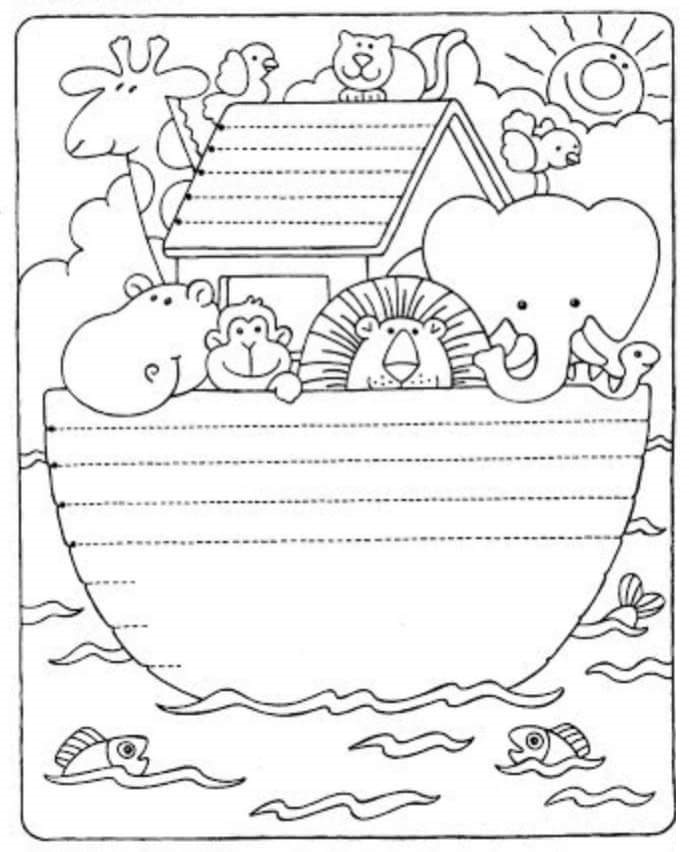 preschool tracing line and coloring funny « Preschool and