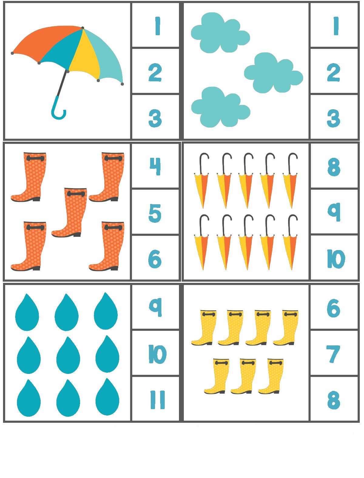 Rain Preschool Worksheet