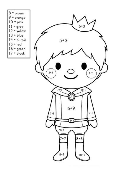 story addition coloring worksheets (10) « Preschool and