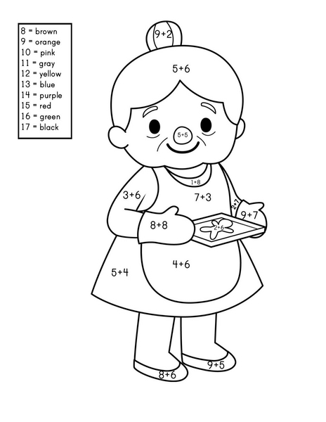 story addition coloring worksheets (3) « Preschool and