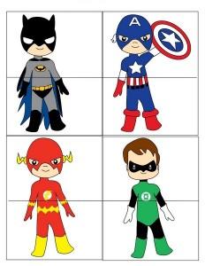 Superheroes Worksheets For Kds Funnycrafts