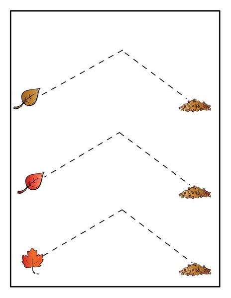 tracing leaf themed « Preschool and Homeschool