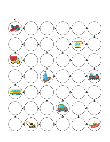 transportation printables maze « funnycrafts