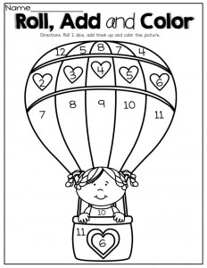 balloon color by number pages (3) « Preschool and Homeschool