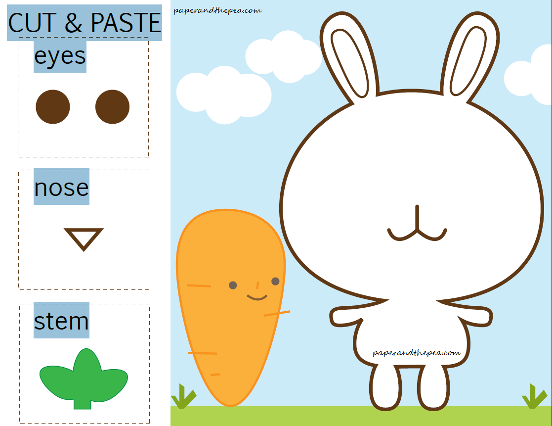 Cut And Paste Worksheets For K Ds 1 Preschool And