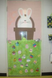 Easter Door & Easter Bunny Door Wreath DIY Easter Door