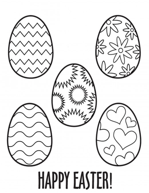 easter egg coloring pages for kıds (6) « funnycrafts