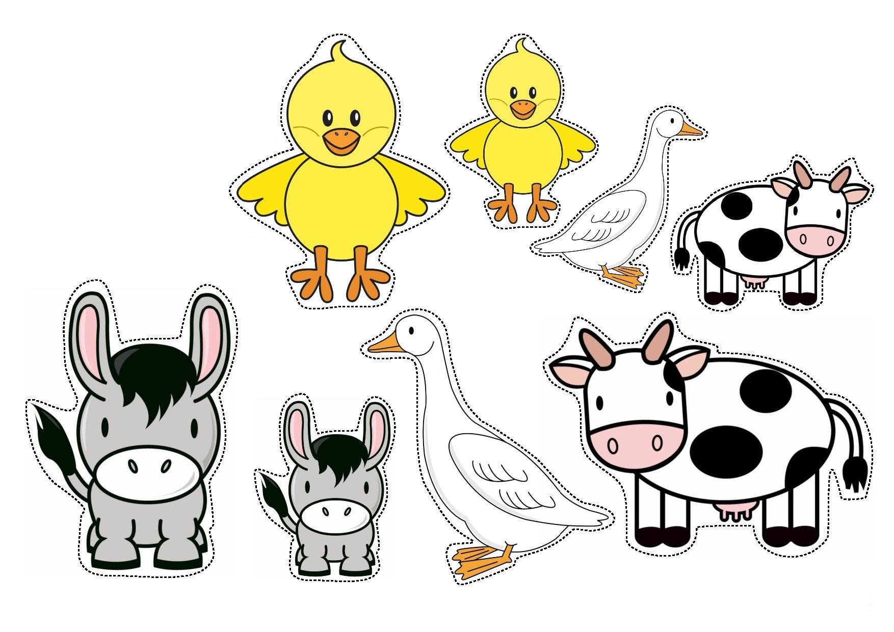 Farm Animals Sorting By Size Worksheets For Preschool