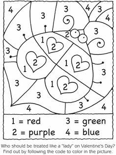 ladybug math free worksheets for kıds (4) « Preschool and