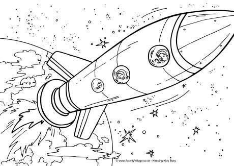 space ship coloring pages « Preschool and Homeschool