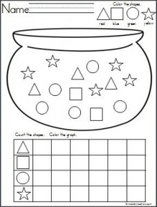 st-patrick day shapes worksheets « Preschool and Homeschool