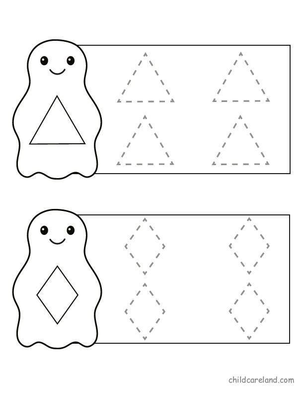 tracing line activities for preschool (9) « Preschool and