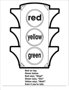traffic light coloring worksheets kıds (2) « Preschool and