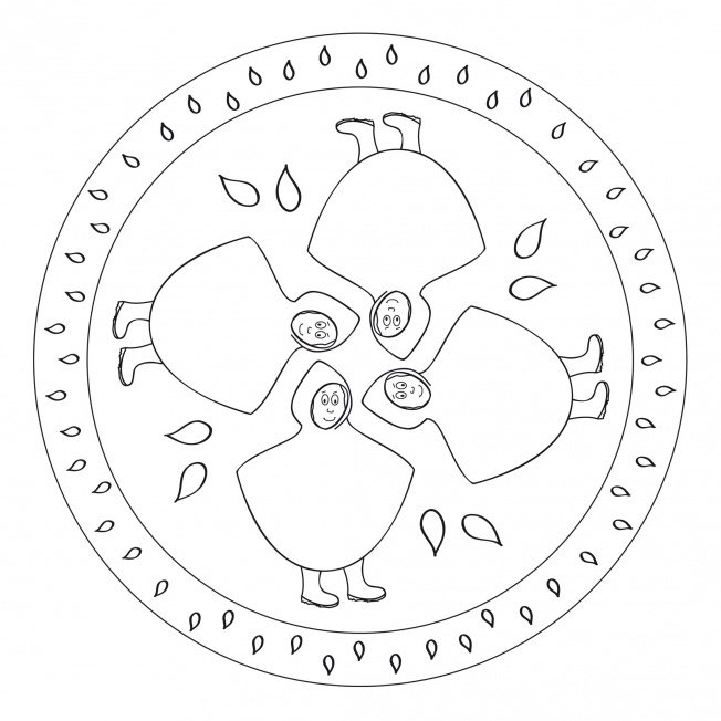 april rain mandala coloring pages (4) « Preschool and