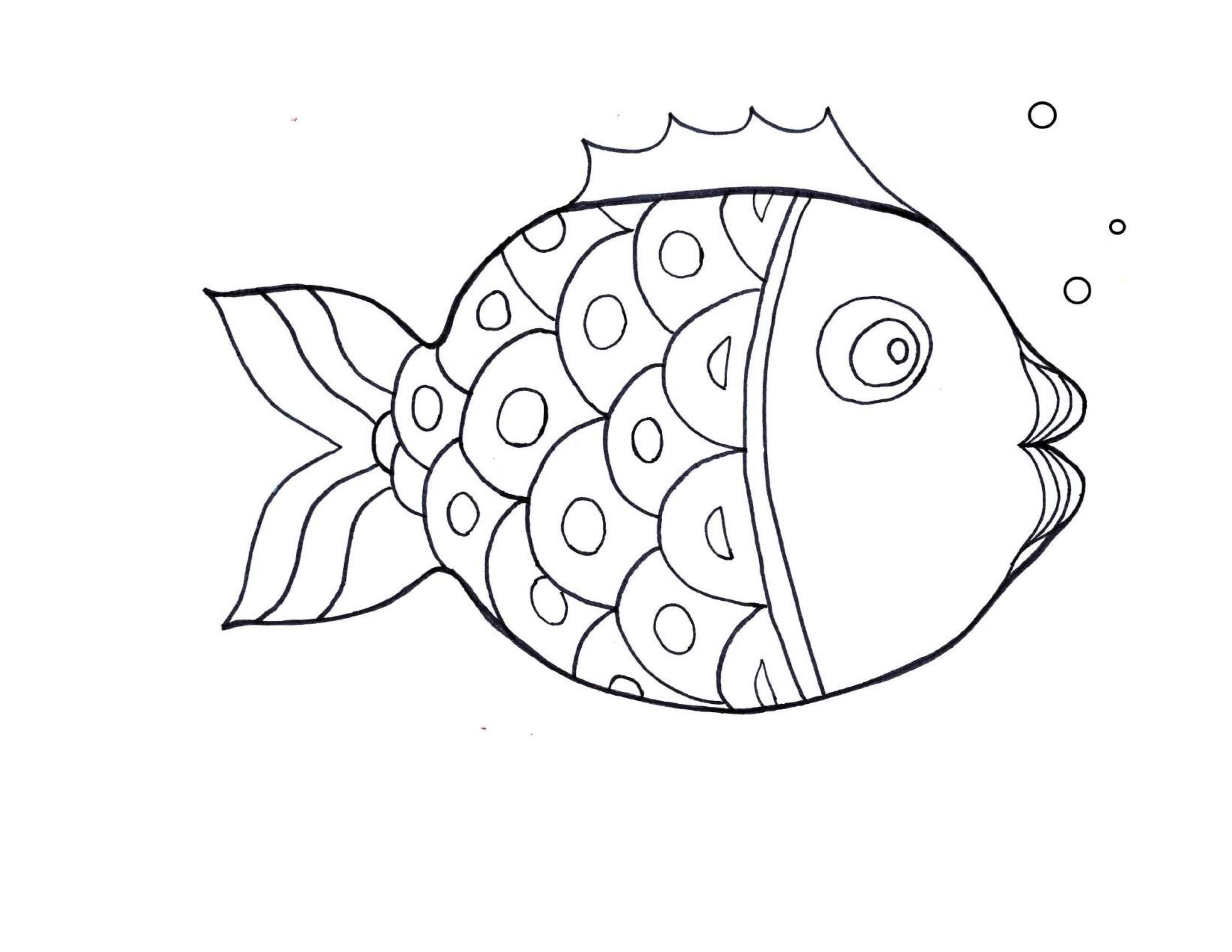best fish coloring pages for kindergarten (4) « funnycrafts