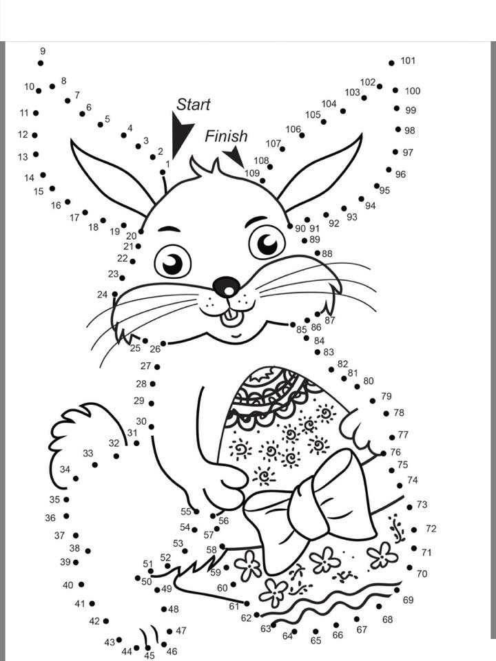 bunny color by number activities (3) « Preschool and