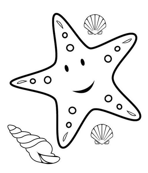 happy starfish coloring pages (2) « funnycrafts