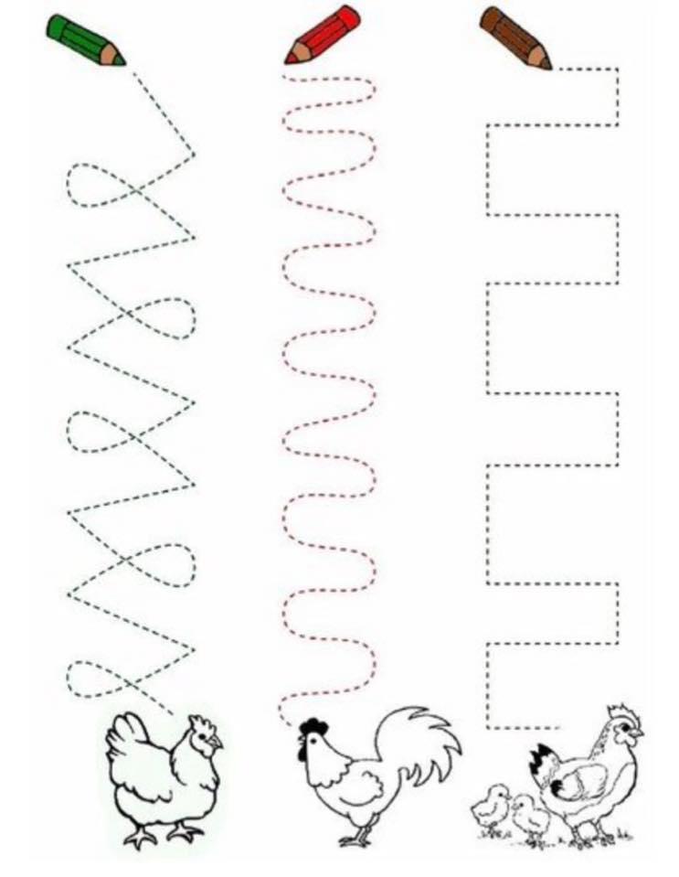 kids pre writing worksheets (2) « Preschool and Homeschool