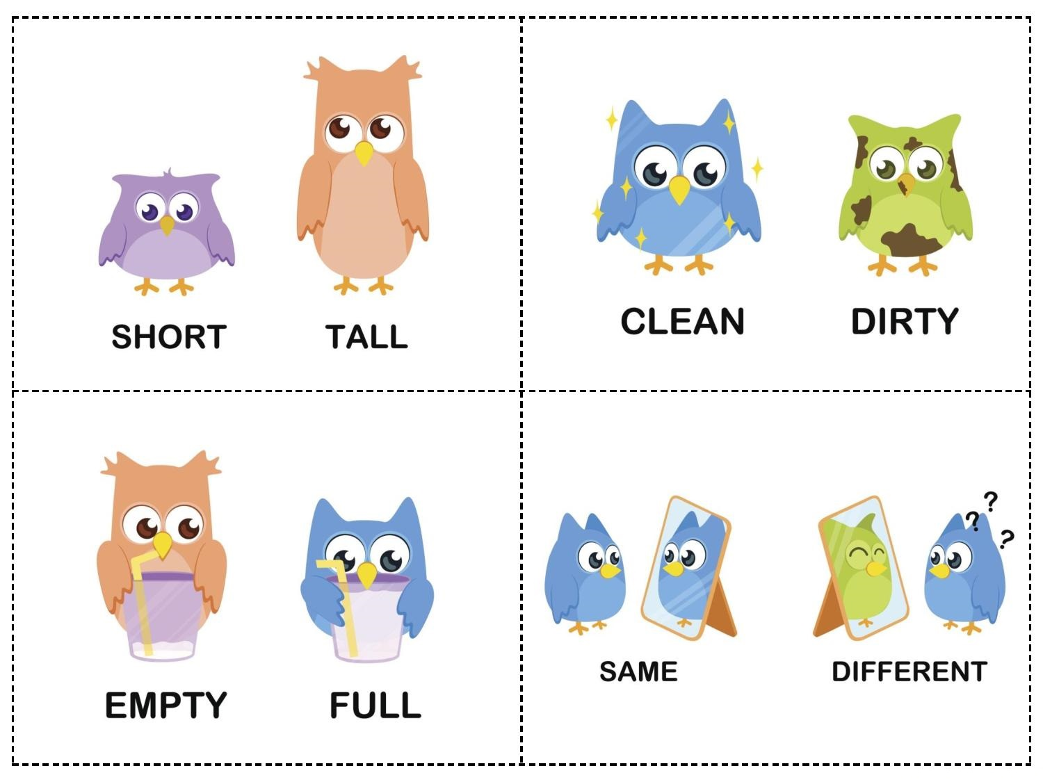 Worksheet Opposites Kindergarten