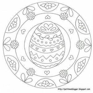 preschool easter egg mandala coloring (4) « Preschool and