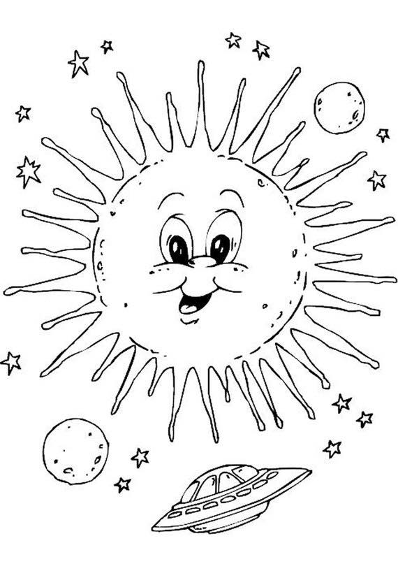 space sun coloring pages « Preschool and Homeschool