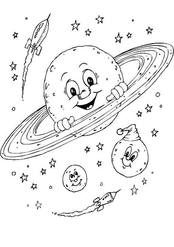 space theme coloring pages (4) « Preschool and Homeschool