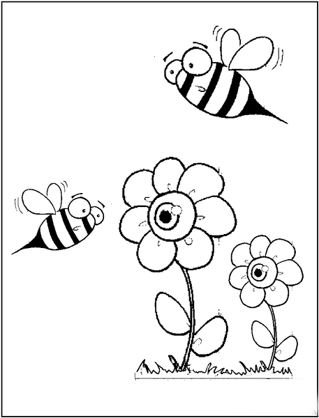 spring bee coloring pages (1) « Preschool and Homeschool