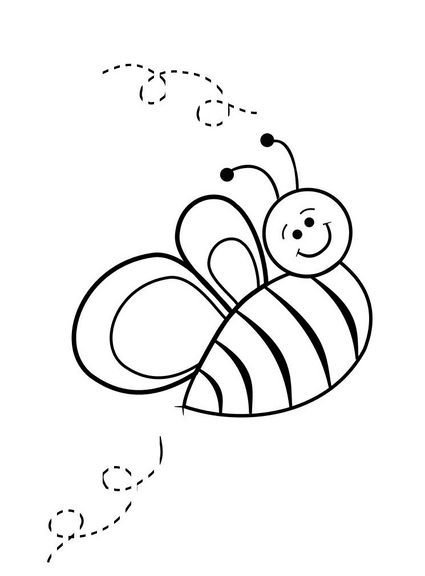 spring bee coloring pages (3) « funnycrafts
