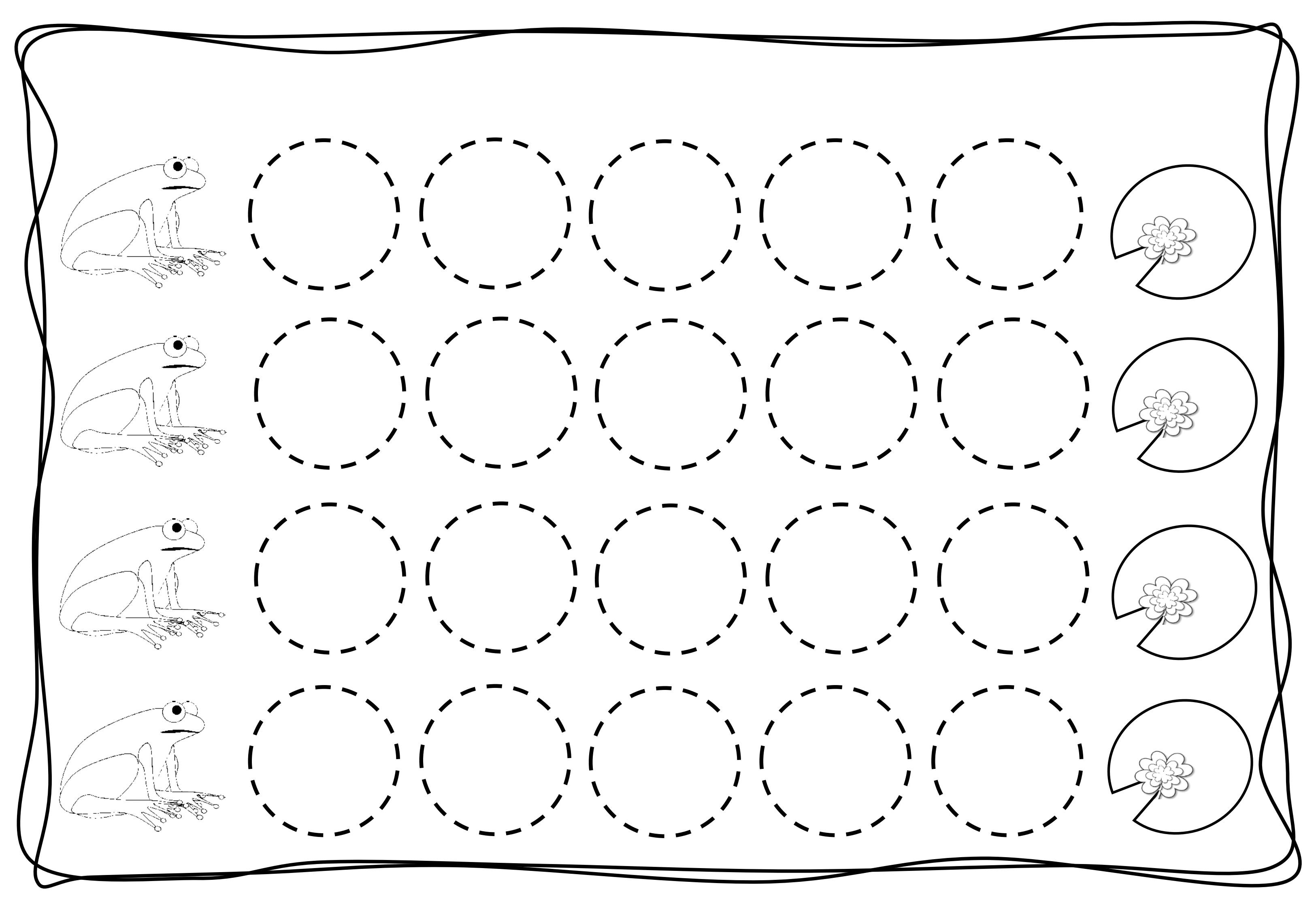 Circles Tracing Worksheets For Kids 2 Preschool And